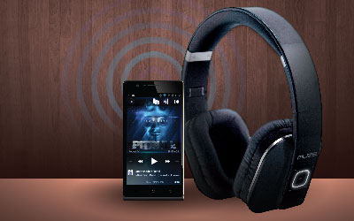 Fitur Polytron MUZE Bluetooth Headphone ZB1 Black High quality music streaming that will completely blow you away