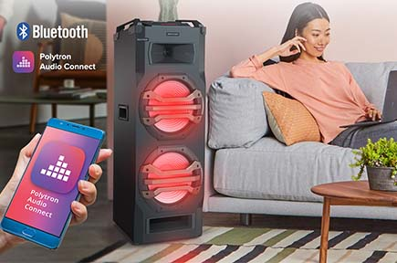 Fitur Polytron POLYTRON Portable Speaker PTS 2K25  Bluetooth + EDR support with Polytron Audio Connect