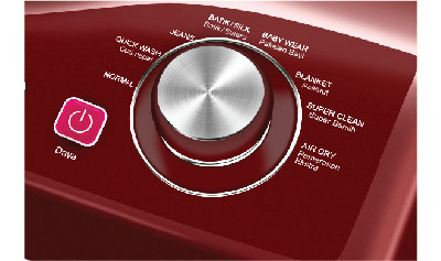 Fitur Polytron Zeromatic Ruby 7.5Kg Maroon Rotary Control