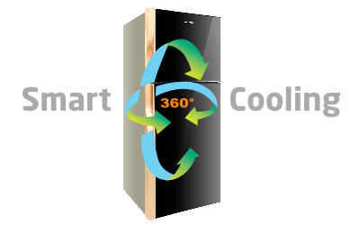 Fitur Polytron Belleza 3 210 liter Dark Grey 360o Multiflow Smart Cooling System